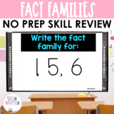 Fact Family to 10 - Math Center Powerpoint See it Write it