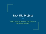 Fact Files for Zoology Semester Long Project  (Zoobooks)