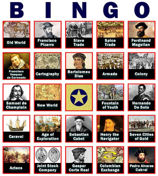 Fact-Filled Bingo & Slideshow - Age of Exploration / Discovery