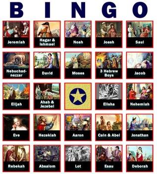 Fact-Filled Bingo & Slideshow - Old Testament Heroes & Villains (Bible)