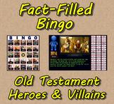 Fact-Filled Bingo & Slideshow - Old Testament Heroes & Vil