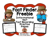Fact Finder Freebie - Informational Reading Follow Up