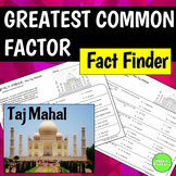 Fact Finder: Taj Mahal Greatest Common Factor