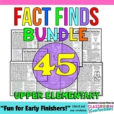 Nonfiction Reading Activity: Great as Early Finishers: Fluency: 4th & 5th Grades