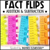 Addition & Subtraction Fact Flips BUNDLE   Math Facts 1-12