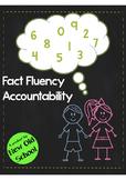 Fact Fluency Accountability Freebie