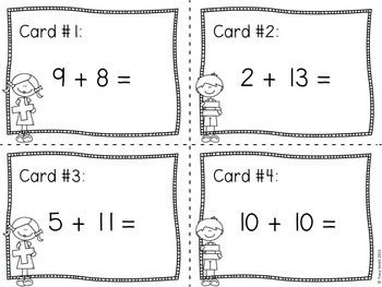 Fact Fluency!  Addition Facts - Sums to 20 Grades 1-3