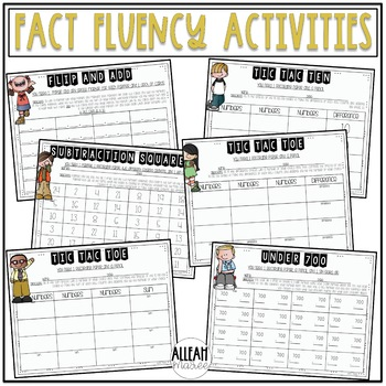 Fact Fluency Addition & Subtraction Activities and Games