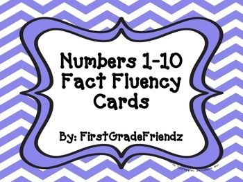 Fact Fluency Cards