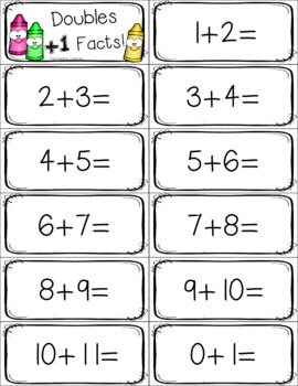 Fact Fluency Doubles +1 Addition