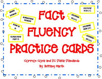 Fact Fluency Flash Cards