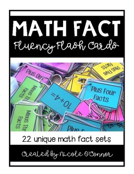 fact fluency flash cards and number sequencing cards for math workshop. Black Bedroom Furniture Sets. Home Design Ideas