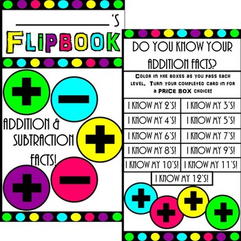 Fact Fluency Flipbook (Addition and Subtraction)