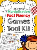 Fact Fluency Games Tool Kit: x5 Multiplication.  2nd, 3rd, 4th, 5th Grades