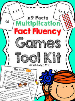 Fact Fluency Games Tool Kit: x9 Multiplication