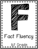 """Fact Fluency"" Guided Math I Can Cards - First Grade"