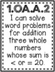 """""""Fact Fluency"""" Guided Math I Can Cards - First Grade"""