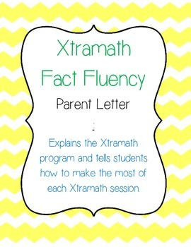 Fact Fluency Home Letter (Xtramath) FREEBIE