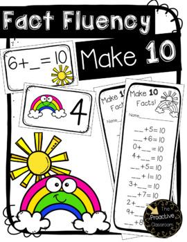 Fact Fluency Make Ten Addition