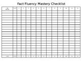 Fact Fluency Mastery Checklist