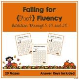 Fact Fluency Mazes - Addition
