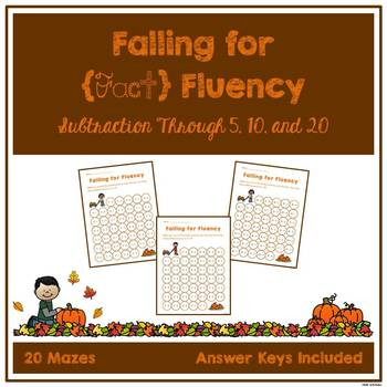 Fact Fluency Mazes - Subtraction
