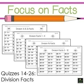 Fast Facts Multiplication and Division {Fluency Quizzes}