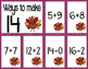 Math Fact Fluency for November (11 to 20)