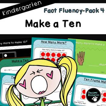 Fact Fluency Pack 4 (Kindergarten-K.OA.4)