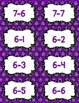 Fact Fluency Practice Cards Subtraction within 20 {PURPLE} Flash Cards