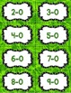 Subtraction Fact Fluency Practice Cards within 20 {GREEN}