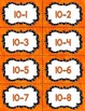 Fact Fluency Practice Cards Subtraction within 20 {ORANGE} Flash Cards