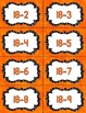 Fact Fluency Practice Cards Subtraction within 20 {ORANGE}