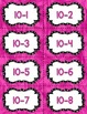 Fact Fluency Practice Cards Subtraction within 20 {PINK} Flash Cards
