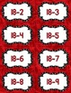 Fact Fluency Practice Cards Subtraction within 20 {RED} Flash Cards
