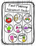 Fact Fluency Recording Sheet and Assessment Binder Cover