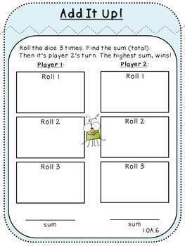 Fact Fluency Review-Pack 6 (First Grade, 1.OA.6)