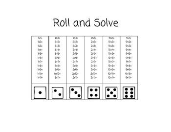 Fact Fluency Roll and Add