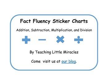 Fact Fluency Sticker Charts FREEBIE!