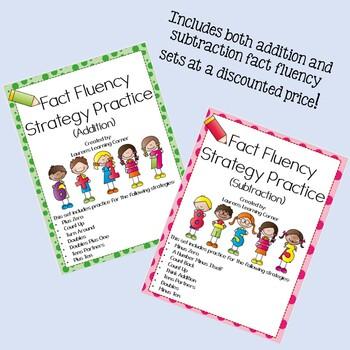 Fact Fluency Strategies and Practice BUNDLE