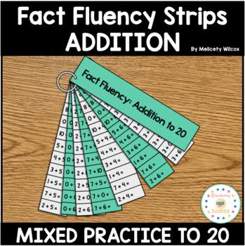 Math Fact Fluency Strips: Addition