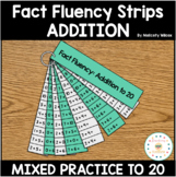 Distance Learning Math Fact Fluency Strips Addition First Grade