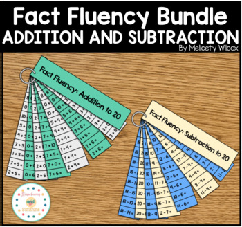 Math Fact Fluency Strips Addition and Subtraction BUNDLE