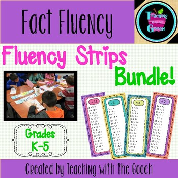Math Operations Fact Practice- Fluency Strips BUNDLE!