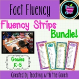 Math Operations Fact Practice- Fluency Strips BUNDLE!