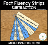 Math Fact Fluency Strips Subtraction