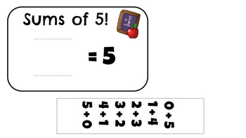 Fact Fluency Sum Cards