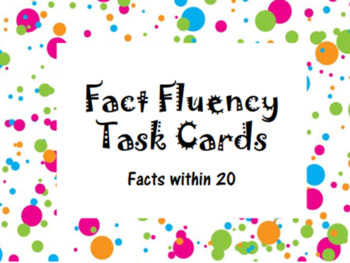 Fact Fluency Task Cards within 20
