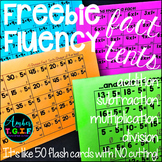 Fact Fluency Tents FREE (no more flash cards) Add, Subtrac
