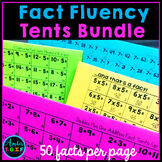 Fact Fluency Tents (no more flash cards) Add, Subtract, Multiply, Divide Bundle
